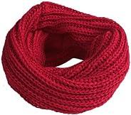 Imixshopcs Elegant Winter Womens Mens Solid Knitted Wrap Neckchief Round Scarf