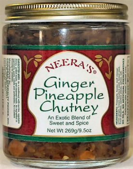 Ginger Pineapple Chutney-Exotic spices/fresh chilies and honey, 1 Jar