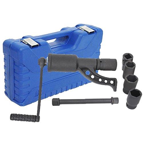 Tenive Heavy Duty Lug Nut Labor Saving Tool Torque Multiplier Socket Wrench Set with Case, 4 - Multiplier Torque