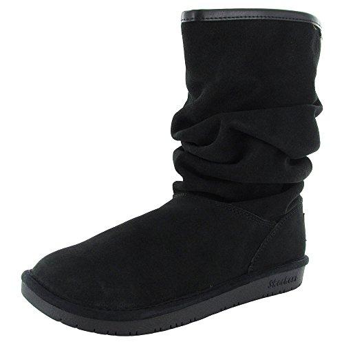 Skechers Women's Shelby's-Helsinki Snow Boot,Black,7.5 M US