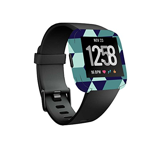 MightySkins Skin for Fitbit Versa Smartwatch - Geo Tile Protective, Durable, and Unique Vinyl Decal wrap cover | Easy To Apply, Remove, and Change Styles | Made in the USA ()