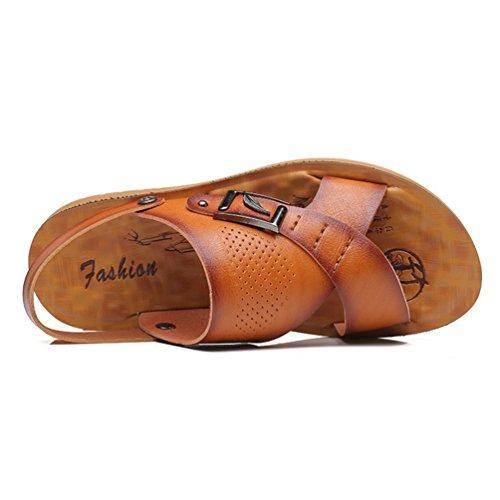 de Souple Piscine Plage de XIGUAFR L Sandale Pantoufle Homme Cuir Chaussure qAwHtSO