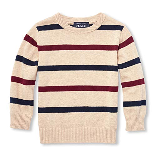 The Children's Place Baby Boys Striped Sweaters, Heather/T Straw, 6-9MONTHS (Sweater Baby Boy)