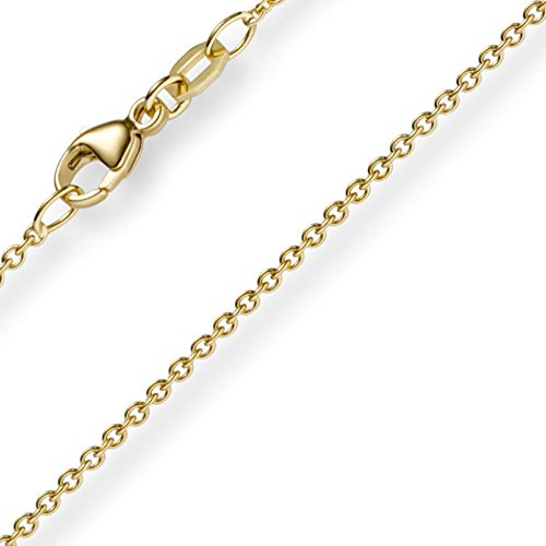 1,5 mm rond de collier en or jaune 750 Collier, 60 cm