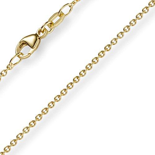 1,5mm rond Câble d'ancrage chaîne en or jaune 333Collier Collier, 40Cm