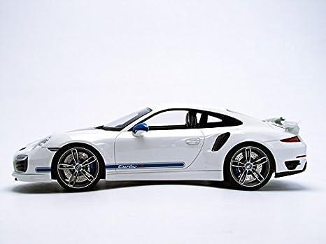 Amazon.com: GT Spirit 1/18 Porsche 911 (991) Turbo S Techart White: Toys & Games