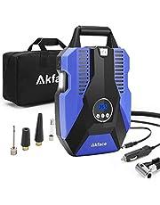 akface Luchtcompressor, draagbare autoluchtpomp, digitale bandenpomp, DC 12 V, 150 psi, mobiele compressoren, luchtcompressor, voor autofietsbanden