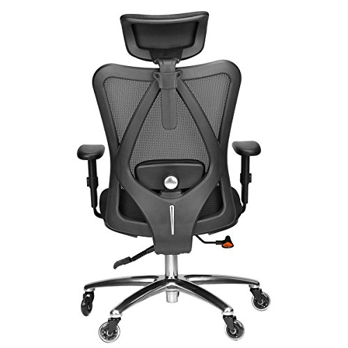 Duramont Ergonomic Adjustable Office Chair with Lumbar Support and Rollerblade Wheels - High Back with Breathable Mesh - Thick Seat Cushion - Adjustable Head & Arm Rests, Seat Height - Reclines by Duramont (Image #2)