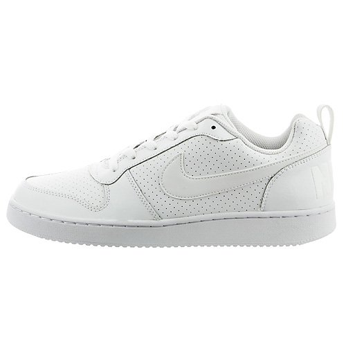 Nike Air Force 1 White - Nike Men's Court Borough Low Top Sneaker, Comfort, White/White, 10.5 US M