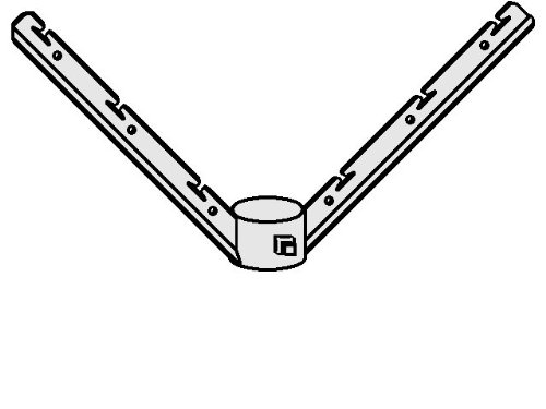 Fence Barb 6 Wire Corner Arm for 2-1/2