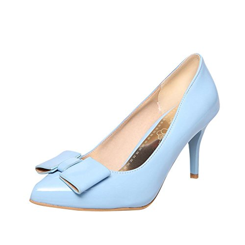 6e7f7761763b80 85%OFF Latasa Womens Solid Color Bow Pointed-Toe Stiletto High Heel Dress  Pumps Shoes
