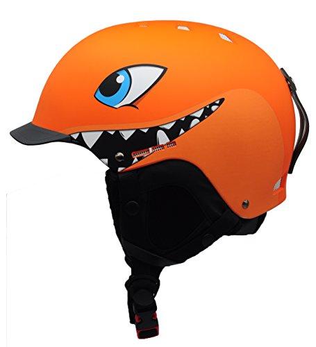 Kids Ski Helmet - BeBeFun Kids and children ski skate snowboard snow sports Helmet with removable Mini Visor age 3-7 and 7-12 Year (orange, S(50-53cm))