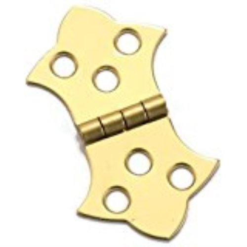 Stanley Solid Brass Mini Decorative Hinge, 1-5/16