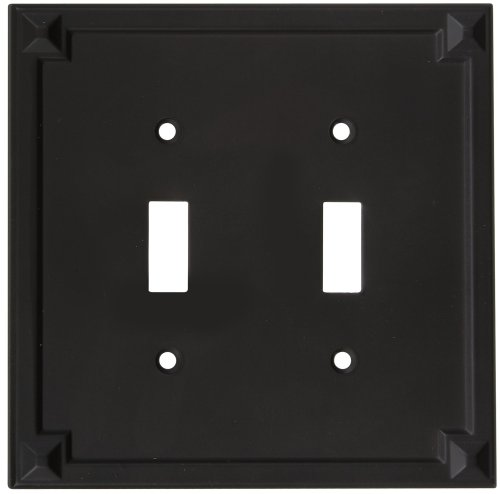 National Hardware S803-684 V8061 Prairie Double Switch plates in Oil Rubbed ()