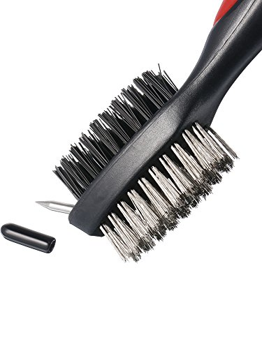 Jetec 3 Pieces Golf Double-sided Cleaning Brush Retractable Zipper Wire Groove Cleaning Tool by Jetec (Image #1)