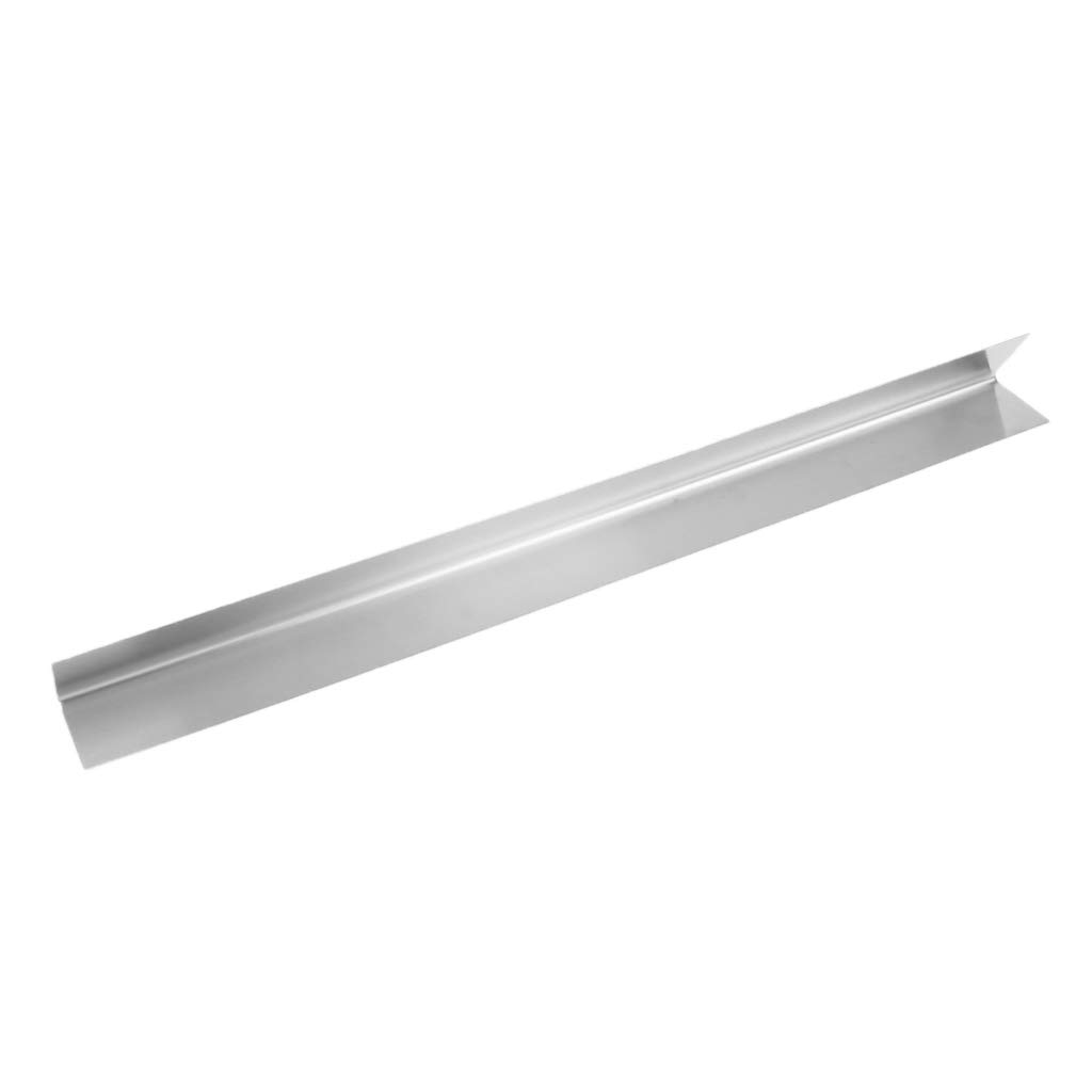 Baosity Replacement Heavy Duty Stainless Steel Heat Plate Shield Bar Burner Cover Flame Gas Grill Plate Outdoors - Silver, 54.8x5.08x5.08cm