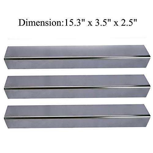 GasSaf 15.3 inch Flavorizer Bars Heat Plate Replacement for Weber Spirit 200 and E210 Series Gas Grills (L15.3 x W3.5x T2.5 inch)(3 packs)