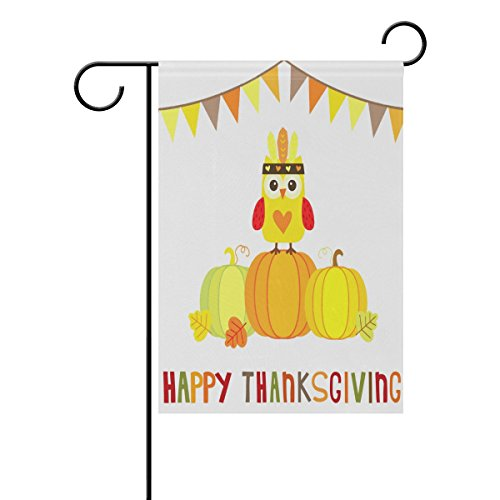 LEISISI Happy Thanksgiving Garden flag 28