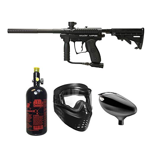 (MAddog Spyder MR100 Pro Beginner HPA Paintball Gun Package - Black)