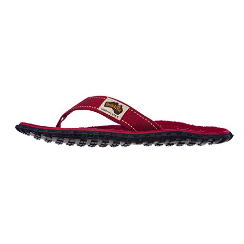Gumbies ISLANDER Unisex Canvas Flip Flops Manly Red Reds