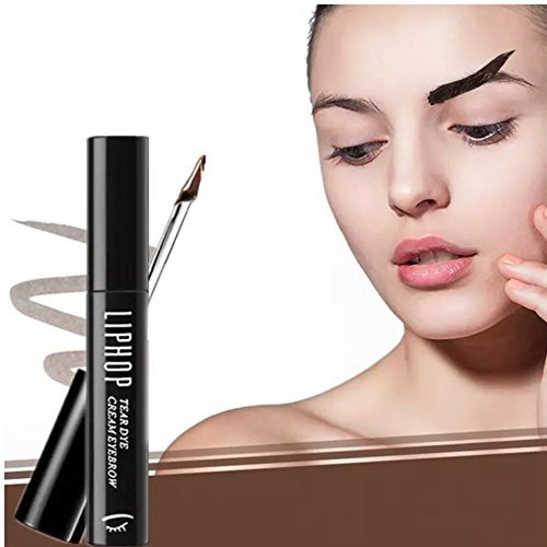 Eyebrow Stain, Peel Off Brow Tint Kit in Light Brown, Long Lasting Smudge Proof Eyebrow Gel #2 8g (Liphop) (Light Brown)
