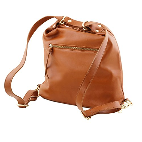 Pelle Convertibile Da Toscana Donna Beige In Tl Zaino Bag ExqFw7ZFU