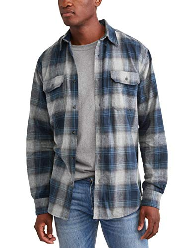 - George Mens Long Sleeve Flannel Shirt (XL 46/48, Blue Cove)