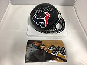 JJ Watt Signed Autographed Houston Texans Mini Helmet COA & Hologram W/Photo From Signing