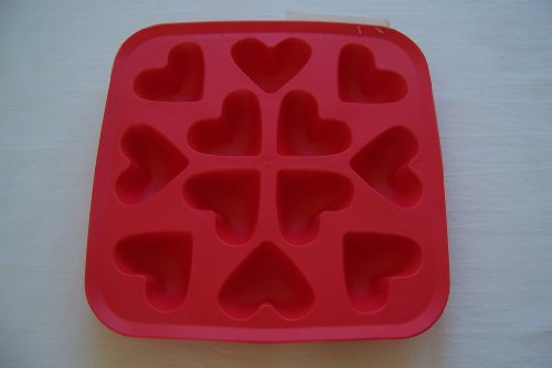 IKEA Plastis Synthetic Rubber Ice Cube Tray Heart Shaped (Heart Cube)