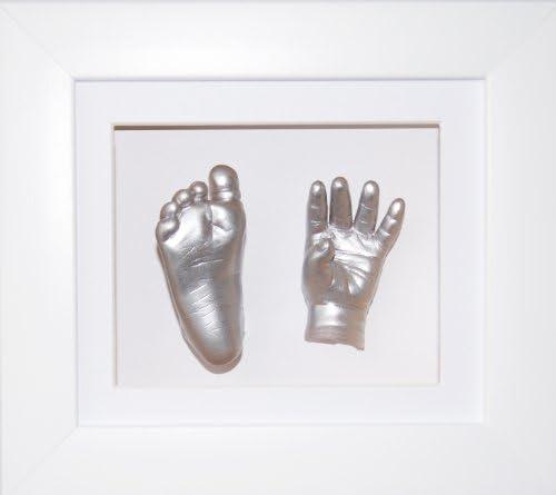 8x6 White 3d Deep Box Frame for Baby Casting Pink White Mount keepsake display