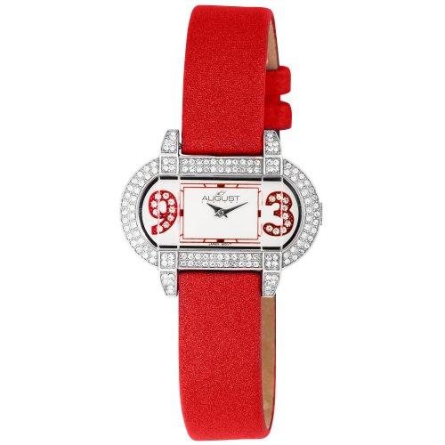 August Steiner Women's AS09R The Waldorf Swarovski Crystal Watch (Waldorf Swiss)