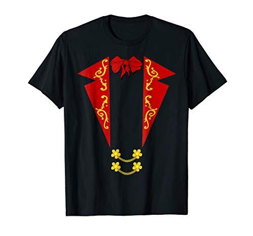 Matador Bullfighter Costume T-Shirt Red Tuxedo Print Design -