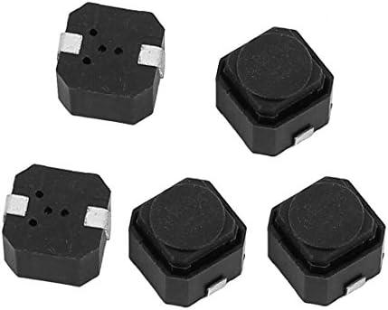 uxcell タクトスイッチ 押しボタンスイッチ 6x6x4.3mm パネル PCB 瞬間的 2ピン DIP 5本入り