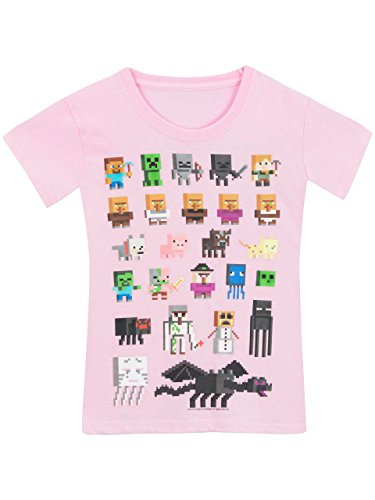 Minecraft Girls' Minecraft T-Shirt Pink 12