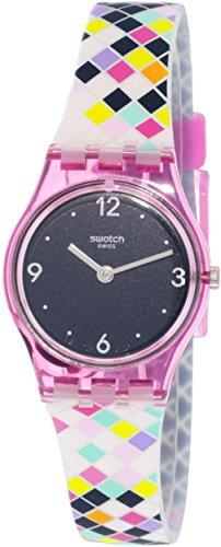 Swatch Watch - Swatch Women's Squarolor LP153 Pink Silicone Swiss Quartz Fashion Watch