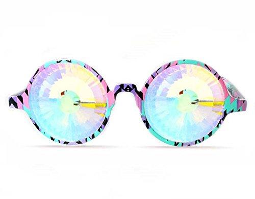 GloFX Aztec Kaleidoscope Glasses – Rainbow - Glasses Aztec