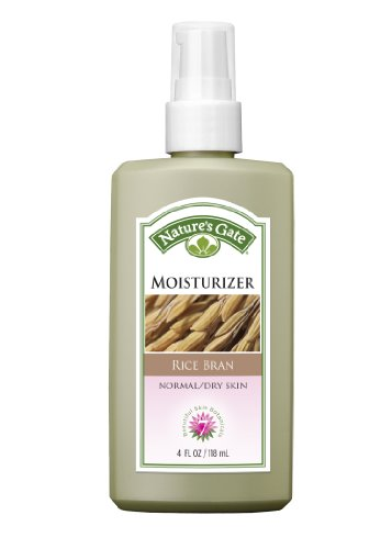 Nature's Gate Rice Bran Moisturizer for Normal/Dry Skin, 4 Fluid Ounce ()