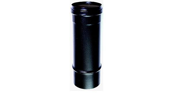 CHIMENEA Tubo 1 mt dn 80 esmaltado pintado 600 grados para estufa de pellets o de madera tubo de acero esmaltado en negro 600 grados ce hecho en Italia 100 ...