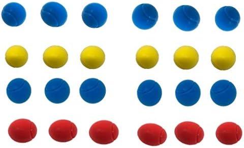 E-Deals - Pelotas de Tenis de Espuma Suave (70 mm, 12 Unidades, 6 ...