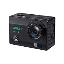 AUKEY Action Camera, 4K Ultra HD Waterproof Sports Camera with 170° Wide Angle Lens, 2 Rechargeable Batteries, WiFi Phone Connection and 2.4GHz Remote