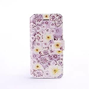 QJM Small Florals Pattern Full Body Leather Case with Stand for iPhone 5/5S