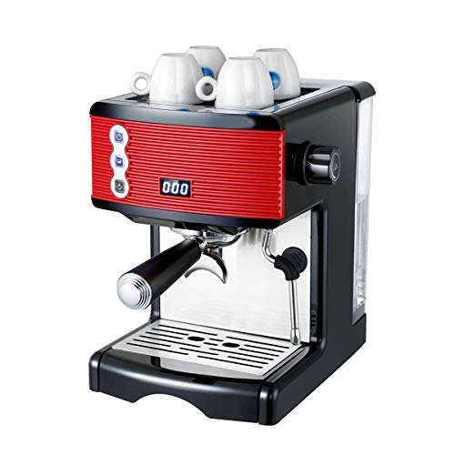LTLWSH Espresso Machine Capacity 1.7L 15 Bar, Capuccino, Milk Foam, 1450W,Steam Nozzle One Touch Control for Frothing Milk and Preparing Hot Drinks