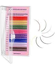 NAGARAKU Gekleurde Wimperextensions 8 Kleuren Regenboog 0,07 mm D-Krul 13 mm Paars Blauw Roze Bruin Volume Individuele Wimpers