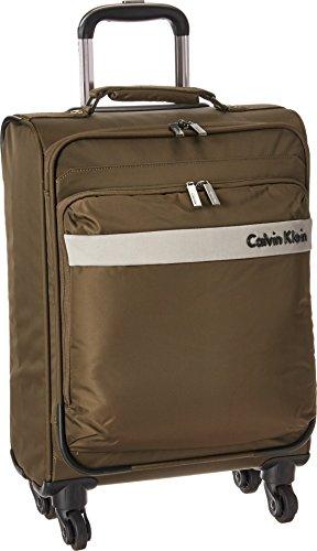 Calvin Klein Unisex Flatiron 3.0 21'' Upright Suitcase Brown Luggage by Calvin Klein