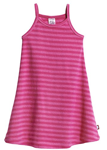 City Threads Little Girls' Summer Dress Cami Camisole Spaghetti Strap Maxi Slip No Sleeve Dress for Sensitive Skin Or SPD Sensory Friendly, Striped Hot Pink, 3T -