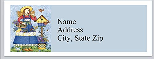(120 Personalized Return Address Labels Primitive Country Girl with Birdhouse (bx 9341))