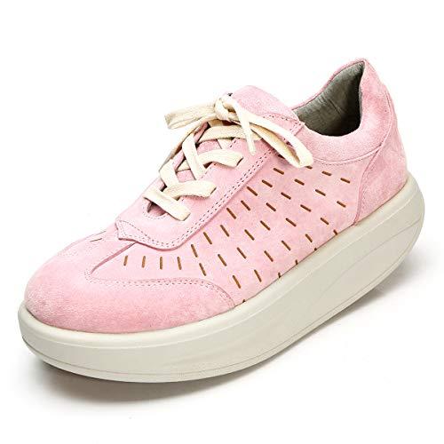 Rosa Creepers Roseg Cordones Mujer Zapatos Plataforma Enredaderas qqOYwg