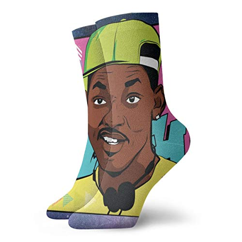 Fresh Prince Of Bel-Air Unisex Woman Man's Dress Funny Crazy Winter Warm Crew Socks