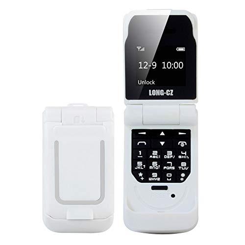 3 in 1 Flip Cover Mobile Phone Headphone Pocket Phone Wireless Mini Bluetooth Dial Bluetooth Headset Earphone GSM Cellphone 18g, 99.99% -