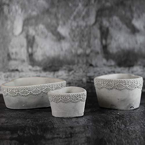 Nicole Molde de concreto de silicona Plantas suculentas Molde de maceta Herramienta de jardinería de cemento hecha a mano: Amazon.es: Juguetes y juegos